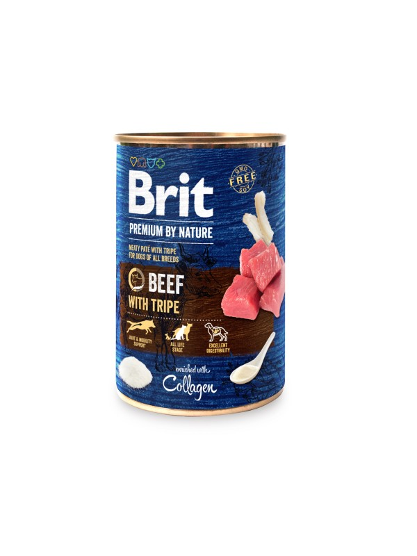 Brit Premium by Nature Beef whith Tripes 800 grs