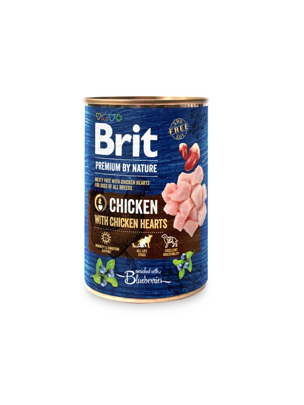 Brit Premium by Nature Chicken with Hearts 400 grs