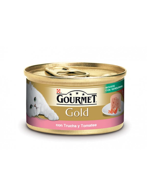 GOLD MOUSSE VERDURA TRUCHA Y TOMATE 85 grs